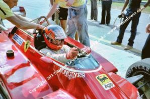 FERRARI 126C2 Gilles Villeneuve. Photo. Cockpit close up Brazil GP 1982. Front